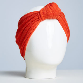 Alabaste Mongolian Chasmere headband Le Bandeau in Burnt Orange.